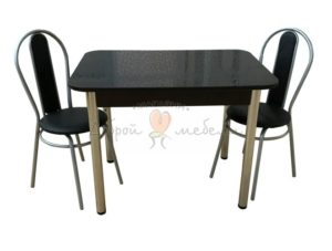 Комплект стол и стулья Былина Дасти черный