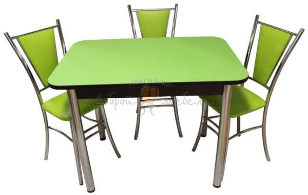 Комплект стол и стулья Былина Лилия зеленый
