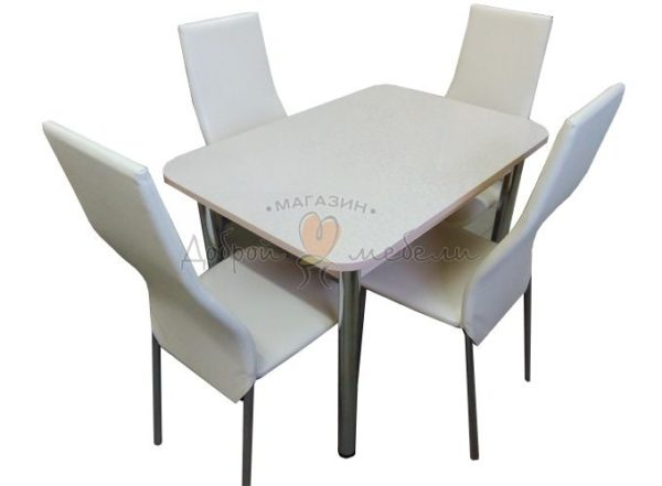Комплект стол и стулья Былина Волна бежевый