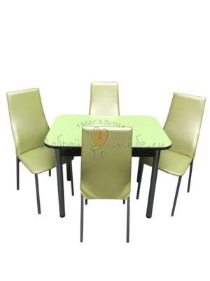 Комплект стол и стулья Былина Волна салатовый