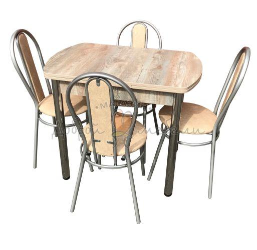 Комплект стол и стулья Дасти Магнолия 1