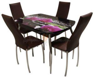 Комплект стол и стулья Вальс Пион Орхидея