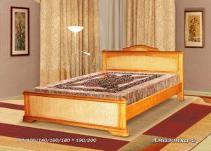 Деревянная кровать Амазонка 2