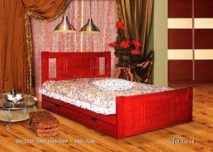 Деревянная кровать Дали 1