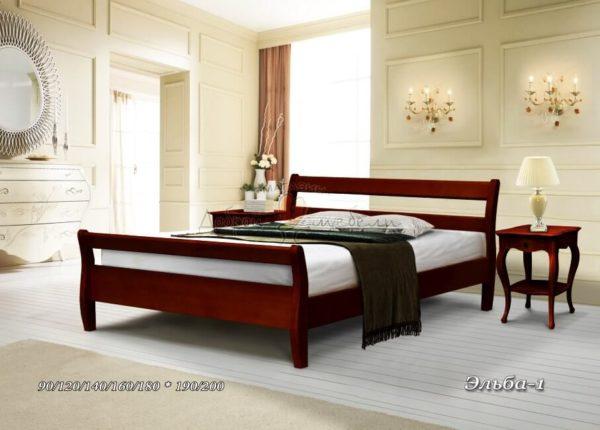 Кровать из массива Эльба 1