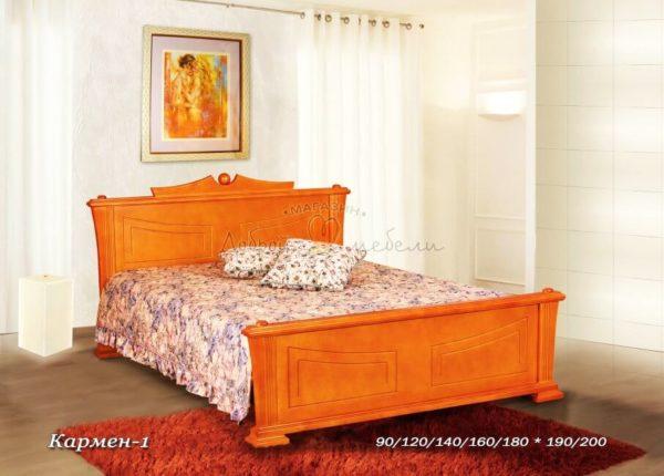 Деревянная кровать Кармен 1
