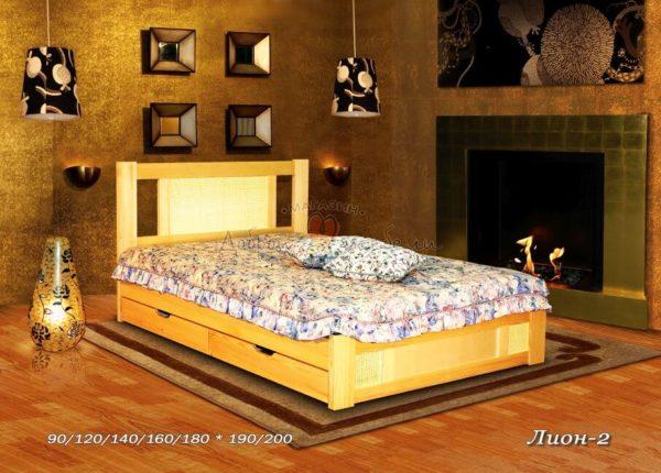 Деревянная кровать Лион 2