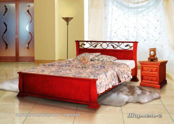 Кровать из массива Шармель 2