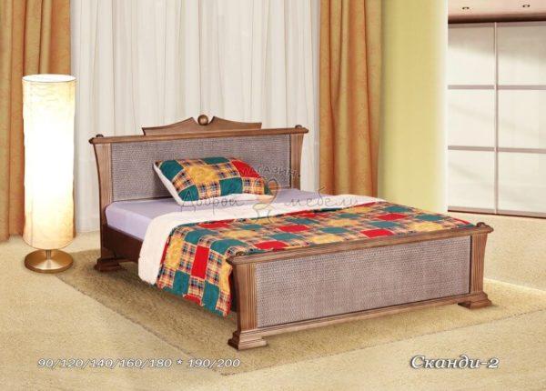 Кровать из массива Сканди 2