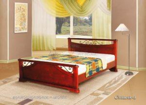Деревянная кровать Стиль-1