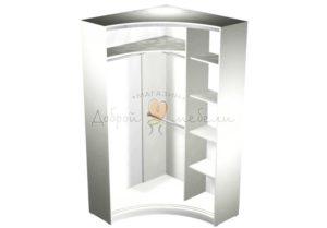 Радиусный шкаф купе Рада 3 наполнение