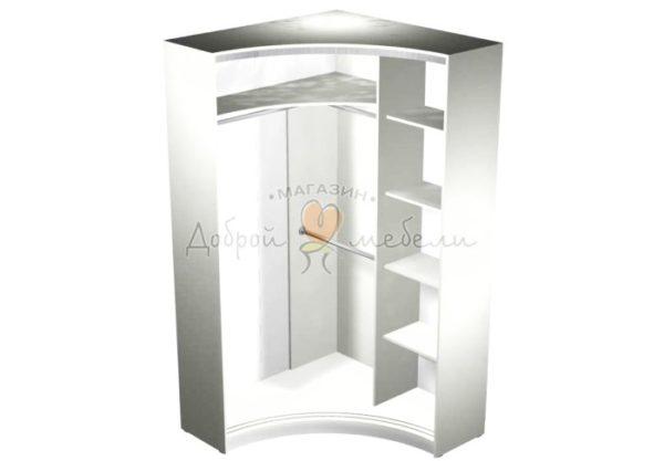 Радиусный шкаф купе Рада 4 наполнение