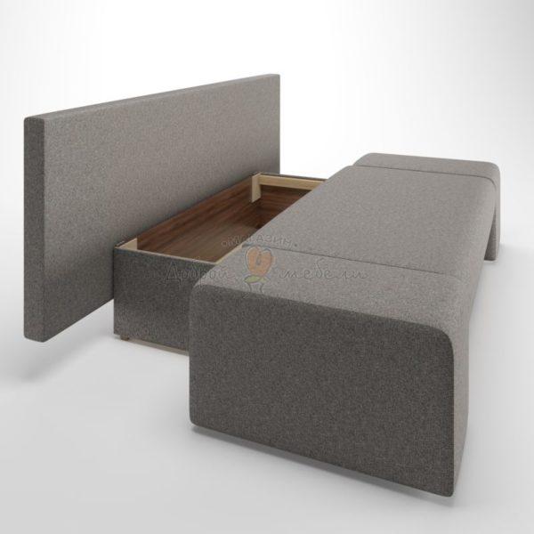 диван еврокнижка Lega Grey box