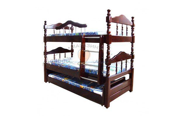 кровать двухъярусная Точеная с дополнительным спальным местом