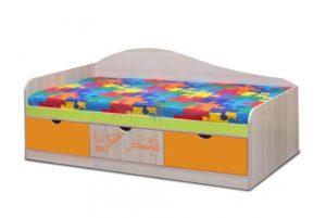 кровать с ящиками Почемучка