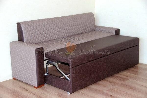 кухонный диван Асти разложенный