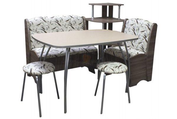 кухонный уголок БЛЮЗ с венским столом Постформинг