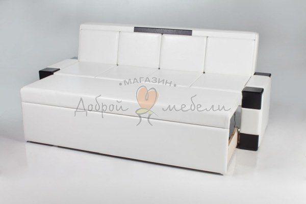 прямой кухонный диван со спальным местом Квадро