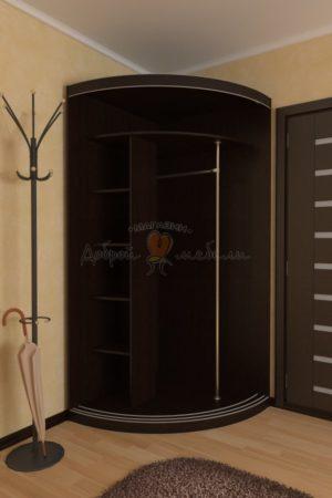 радиусный шкаф купе Мебелеф наполнение 1 2