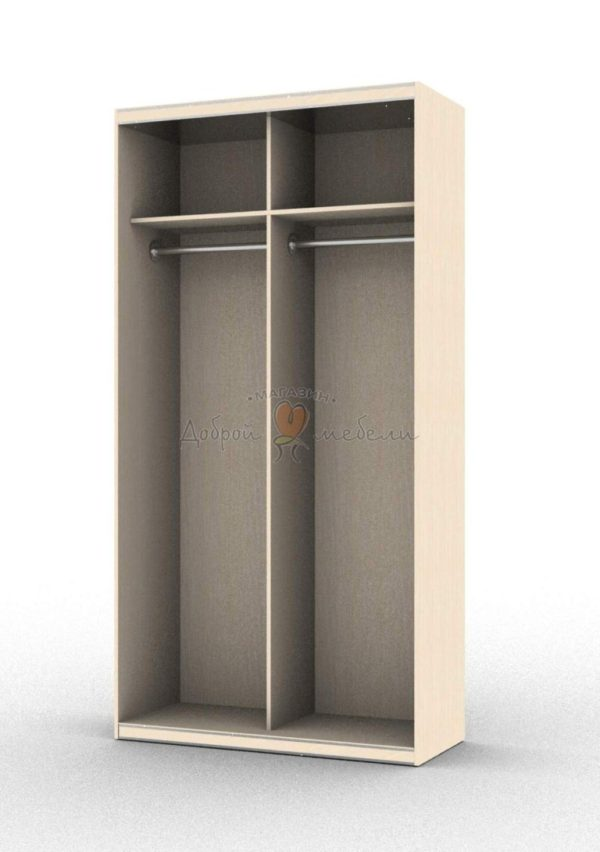 шкаф купе 2 внутри 1 вариант