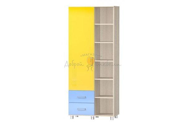 шкаф одностворчатый с открытыми полками Алешка МДФ 3