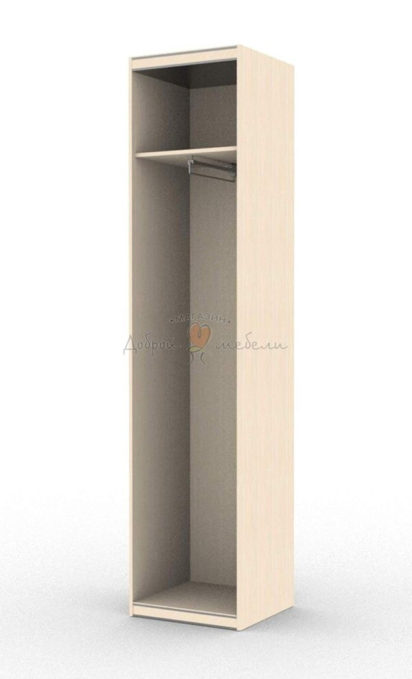 шкаф одностворчатый выдвижная вешалка