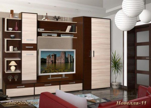 стенка в гостиную Новелла 11