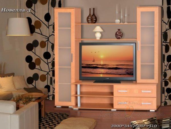 стенка в гостиную Новелла 3