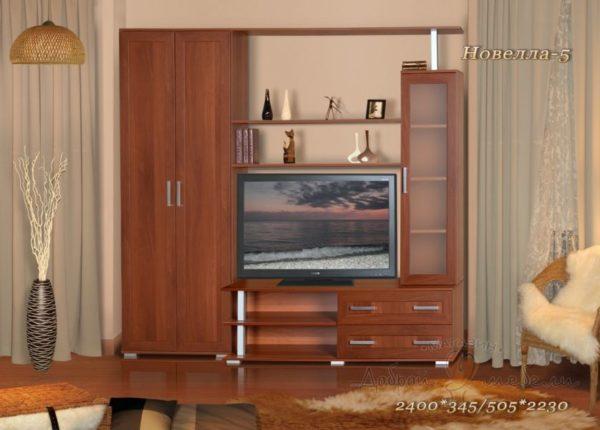 стенка в гостиную Новелла 5