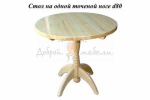 стол на 1 точеной ноге круглый