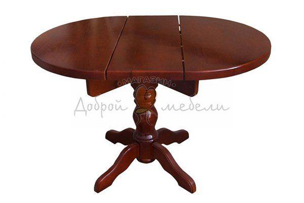 стол на 1 точеной ноге раскладной