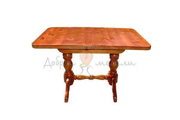 стол на двух точеных ногах 80х110