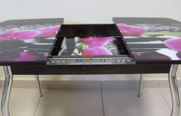 стол со стеклом Вальс раздвижной с фотопечатью 1