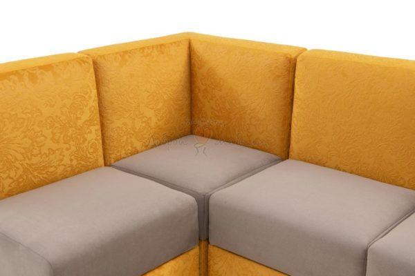 угловой диван для кухни Лион 11