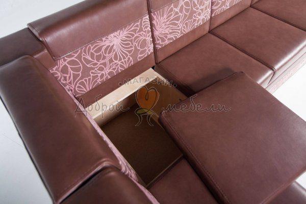 угловой диван для кухни Остин М крупный план