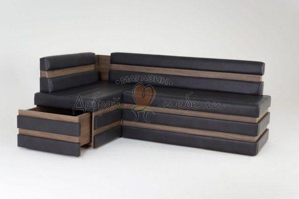 угловой диван для кухни с ящиком  Фостер