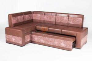 угловой диван для кухни со спальным местом Остин М