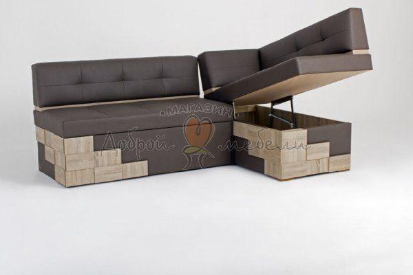 угловой диван для кухни со спальным местом Редвиг