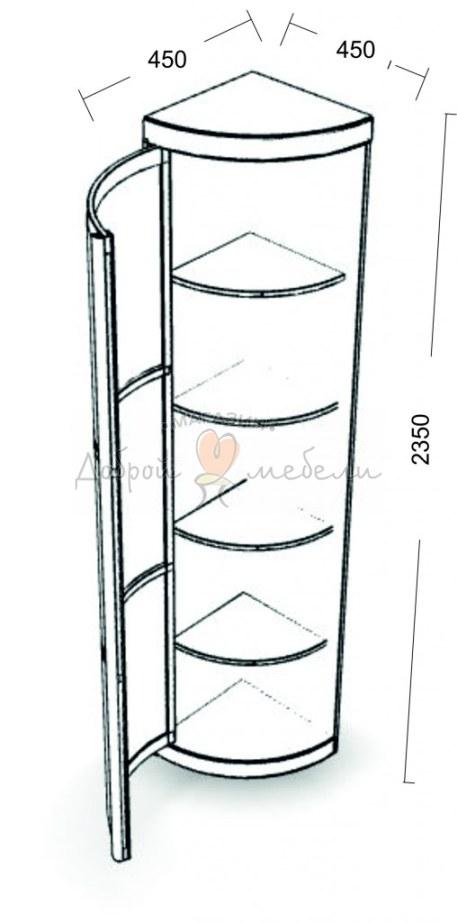 угловой элемент с распашной дверцей