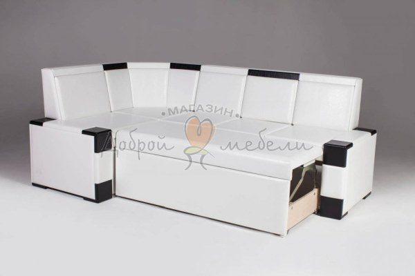 угловой кухонный диван со спальным местом Квадро