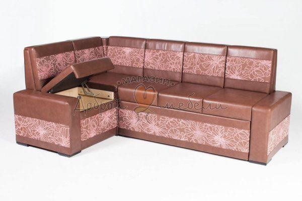 угловой кухонный диван со спальным местом Остин М