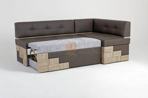 угловой кухонный диван со спальным местом Редвиг